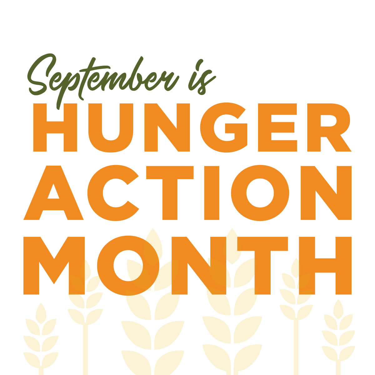 Hunger Action Month Graphics